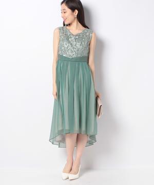 上身刺繍レースドレス