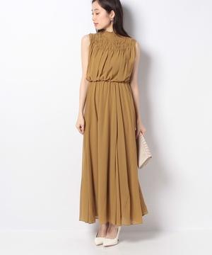 デコルテギャザーサマードレス
