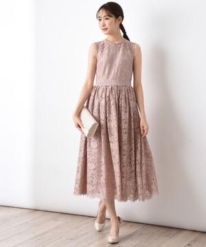 【WEB限定】フラワーレース*はしごレース切替ドレス