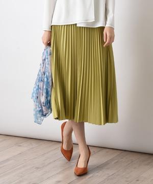 リバーシブル配色タフタスカート