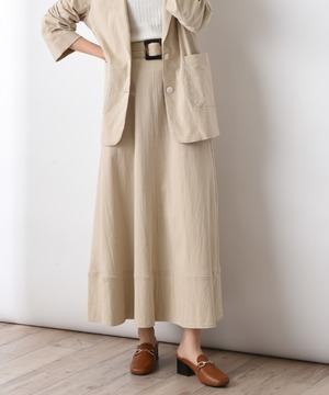エコリネン共ベルト付きスカート