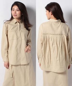 【セットアップ対応商品】リネンコットンBACKギャザーシャツ