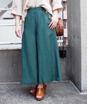 麻レーヨンスカート風パンツ