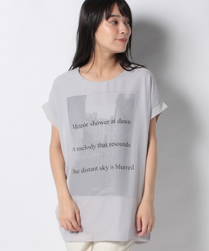 CITYモノトーン3DTシャツ
