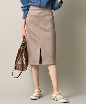 ストレッチフェイクスエードペンシルタイトスカート