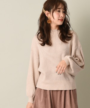 【WEB限定】リブ編みボリューム袖プルオーバー