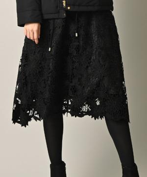 スエード刺繍フレアースカート