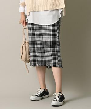 ツイード風BIGチェックタイトスカート