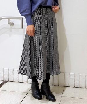 配色柄ニットスカート