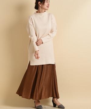 【セット商品】ボトルネックチュニック+フレアースカート