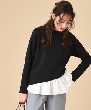 高密度ポンチ裾異素材切替プルオーバー