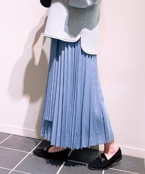 シレーレザーラッププリーツスカート