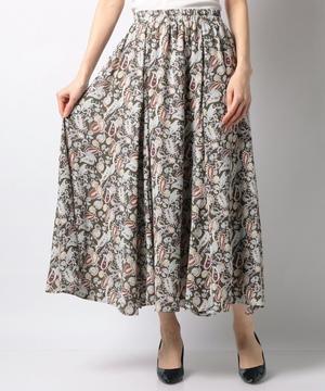 ペイズリーパネル切替ロングスカート