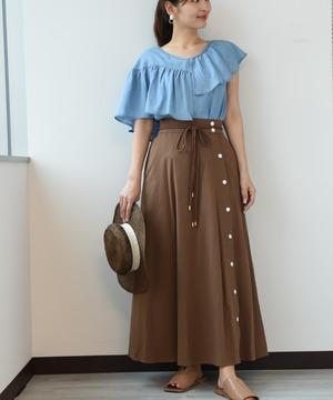 【セットアップ対応商品】エコリネンパイピングデザインスカート