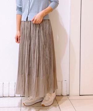 シアーランダムプリーツスカート