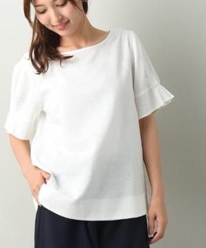 レーヨン麻ライト袖デザインブラウス