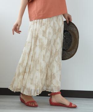 シアーモザイクアコーディオンプリーツスカート