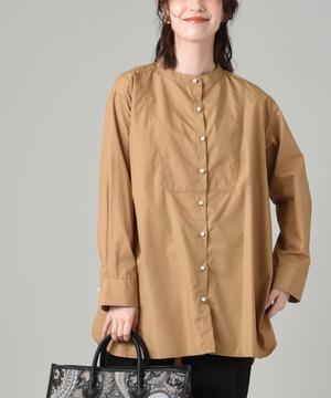 パール釦カラーシャツ