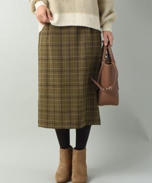 チェックナロースカート