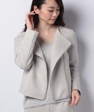 【セットアップ対応商品】【EM】フェイクスエードライダースジャケット