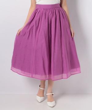 【セットアップ対応商品】【LA】テンセルボイルギャザーフレアスカート