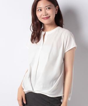 【EM】サテンジョーゼットタックシャツ