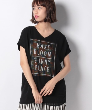 (BJ)花柄3DTシャツ