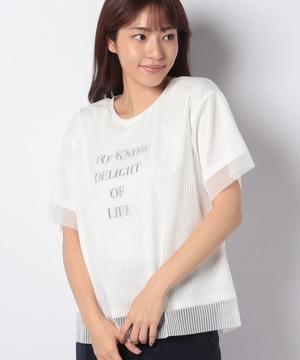 【BJ】チュールレイヤードロゴTシャツ