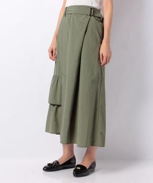 【RAW FUDGE】裾フリルデザインラップ風スカート