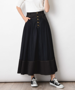 【doll up oops】チュールフレアースカート