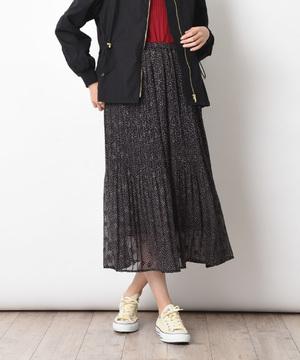 【Seadrake】シフォンスタープリントスカート