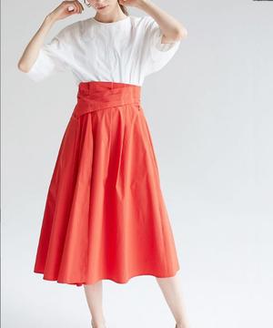 【RAW FUDGE】ウエストタックデザインスカート