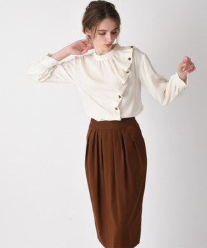 【セットアップ対応商品】【RAW FUDGE】ウエストタックタイトスカート