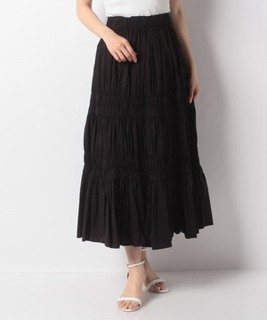 【anana】シャーリングデザインマキシスカート