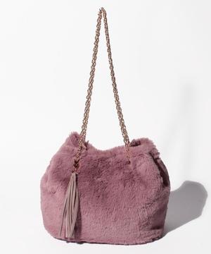 フェイクファー巾着BAG