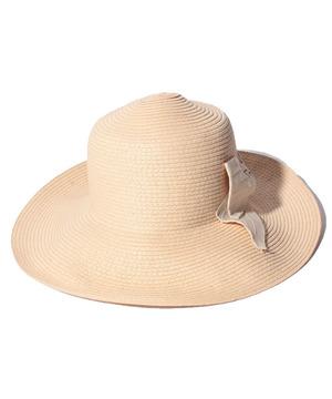 リボンキャペリンつば広HAT