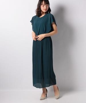 シフォンプリーツドレス