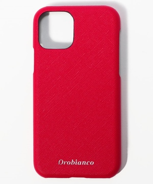 "サフィアーノ調"" PU Leather Back Case(iPhone 11Pro)"