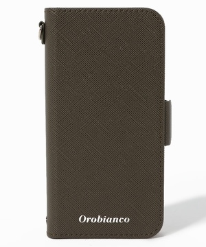 """""""サフィアーノ調"""" PU Leather Book Type Case(iPhone 12 mini)"""