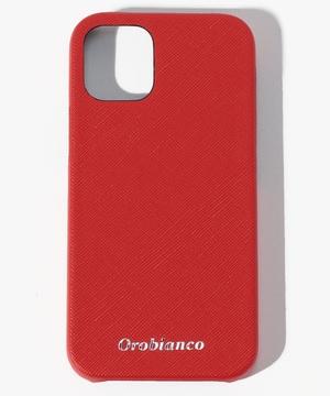 """""""サフィアーノ調""""PU Leather Back Case(iPhone 12 mini)"""