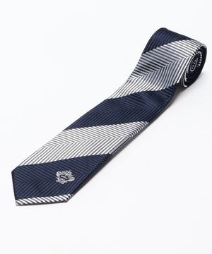 Orobianco Tie(ワンポイントパネル・ヘリンボンストライプ)