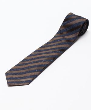 Orobianco Tie(アズーロ・エ・マローネ・ネップ糸ストライプ)