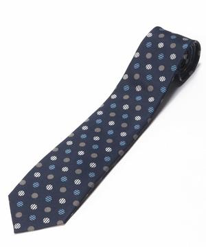 Orobianco Tie(Blue/Sandドット)