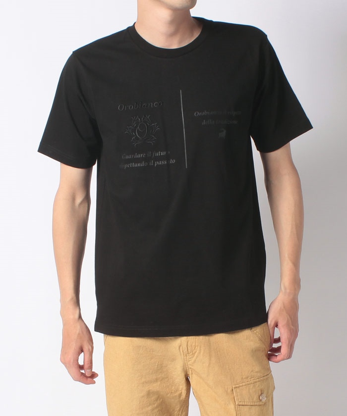 USコットンモチーフプリント半袖Tシャツ