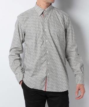 小紋柄PtBD長袖シャツ