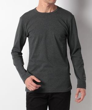袖ロゴ刺繍フライス長袖Tシャツ