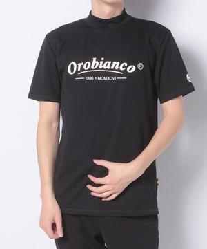 ロゴモチーフモックネック半Tシャツ