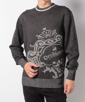 二重臼コロナロゴクルーセーター