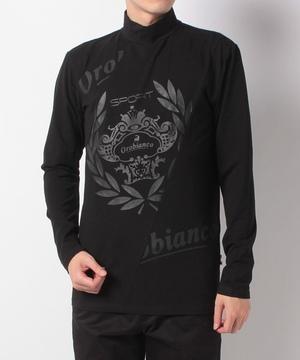ロゴモチーフハイネック長袖Tシャツ