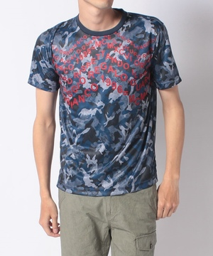 ポリエステルスムースヤギ迷彩柄半袖Tシャツ